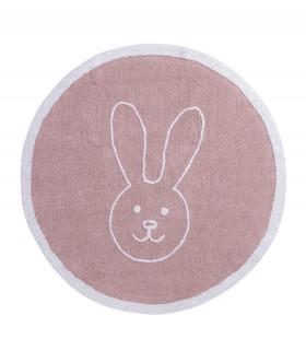 Cojín lavable Round Star - rosa - 30x30 cm