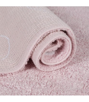 Alfombra lavable Bunny - rosa - diám. 140 cm
