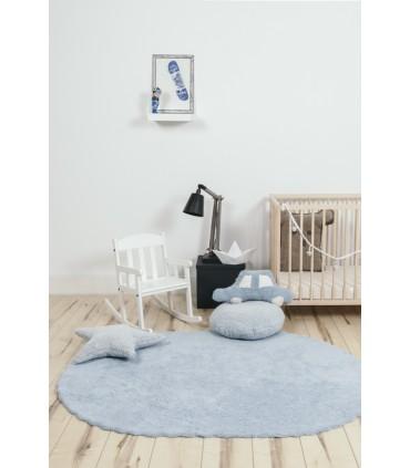 Alfombra lavable Mapa - gris - diám. 140 cm