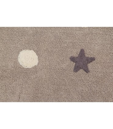 Alfombra lavable Four Stars - gris - 120x160 cm