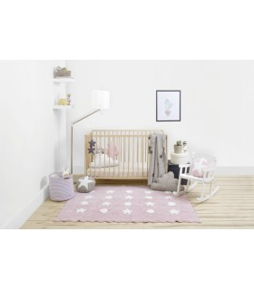 Colgante de pared Big Star - rosa-blanco - 45x45 cm