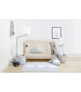 Manta de punto Bebé Lion - gris - 90x120 cm