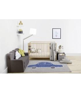 Manta de punto Bebé Zebra - gris - 90x120 cm
