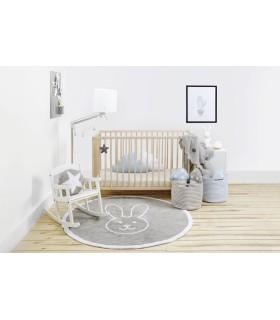 Manta de punto Bebé Little Stars -azul-blanco - 90x120 cm